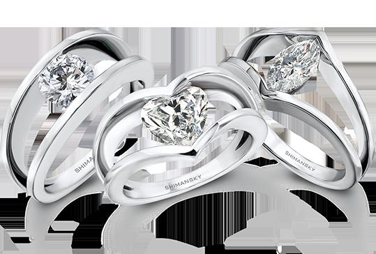 Shimansky Iconic Millennium Rings