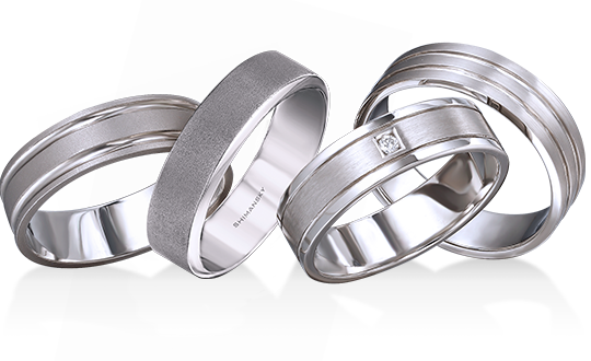 Shimansky Mens Wedding Bands