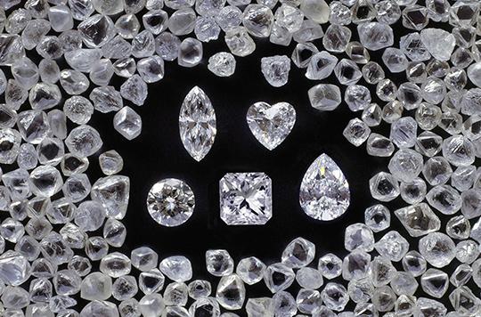 Various Shimansky Polished Diamonds