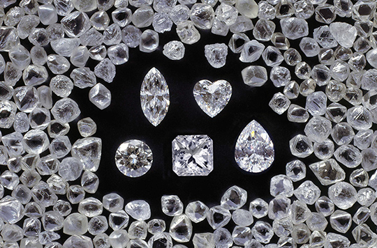 Various Shimansky Polished Diamonds