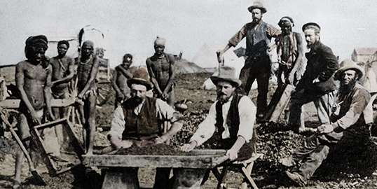 Kimberley Miners in South Africa in the 1800's