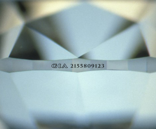 Laser inscription on diamond