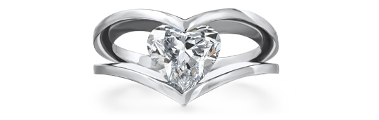 Shimansky Heart Shape Millennium Diamond Ring