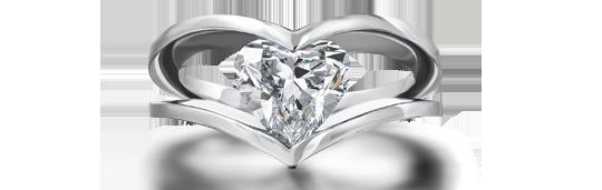 Shimansky Heart Shape Millennium Diamond Ring