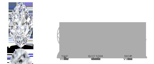 Marquise Shape Diamond Facets