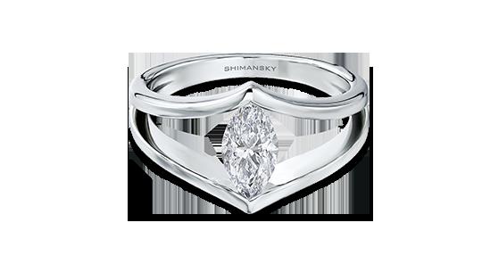 Shimansky Marquise Shape Millennium Ring