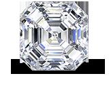 Square Emerald Asscher Cut Diamond