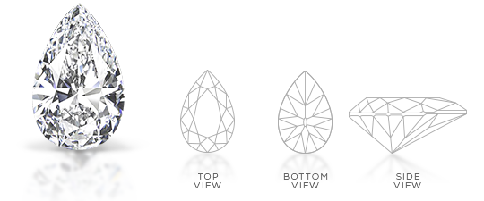 Pear Shape Diamond Cut Facets