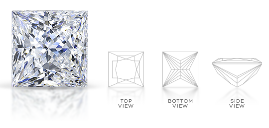 Princess Cut Diamond Facets