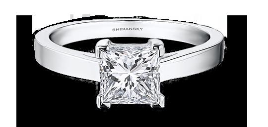 Shimansky Princess Cut Diamond Ring