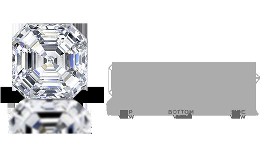 Square Emerald Diamond Cut
