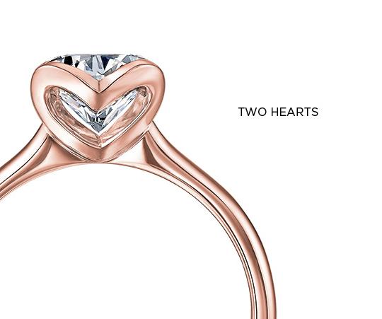 Shimansky Two Hearts Diamond Ring