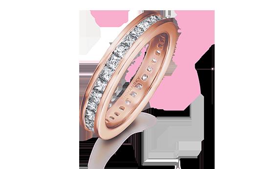 Shimansky Channel Set Diamond Full Eternity Ring
