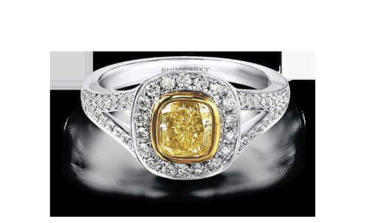 Shimansky Fancy Yellow Diamond Ring