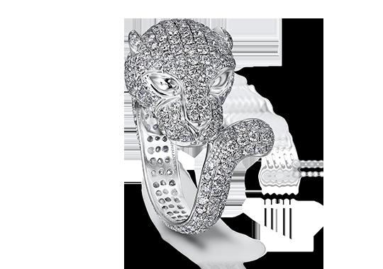 Shimansky Diamond Panther Ring