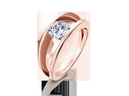 Shimansky Rose Gold Engagement Ring