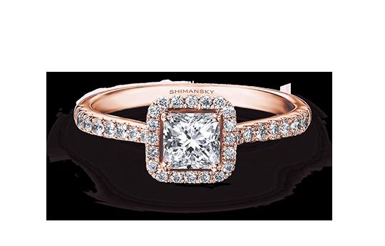 Shimansky Rose Gold Diamond Rings