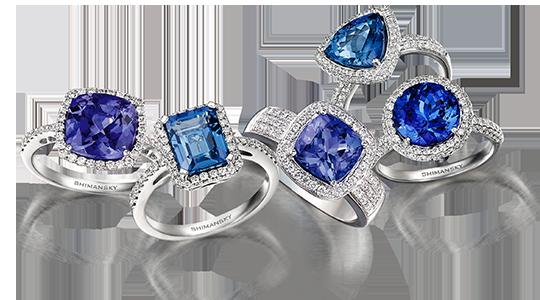 Tanzanite and Diamond Jewellery by Shimansky