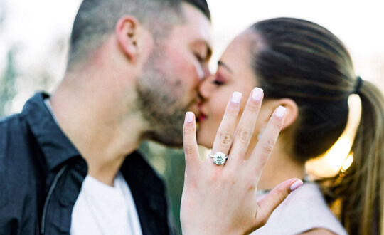 Tim Tebow and Demi-Leigh Nel-Peters – Her Engagement Ring | Shimansky