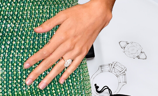 Hailey Baldwin Engagement Ring | Shimansky