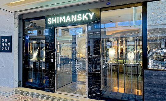 Shimansky jewellery showroom V&A Waterfront, Cape Town