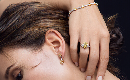Shimansky Fancy Yellow Diamond Jewellery Collection