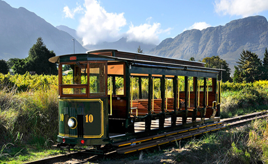 Wine Tram in Franschhoek, South Africa