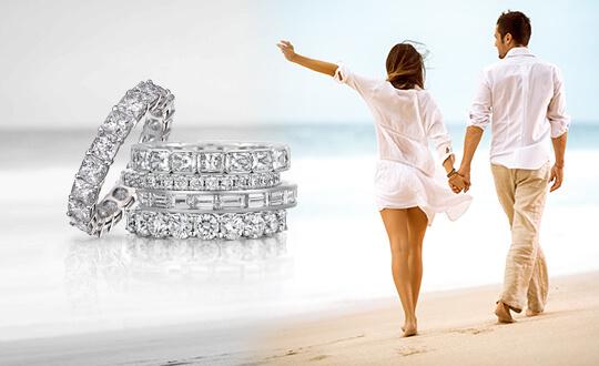 Shimansky eternity diamond anniversary rings
