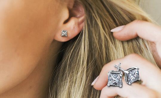 Shimansky My Girl diamond earrings anniversary gift