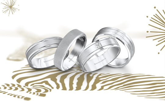 Shimansky Max-line wedding ring collection