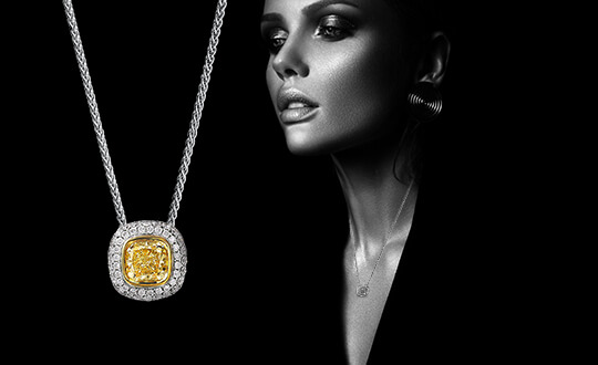 Shimansky Fancy Yellow Diamond Pendant