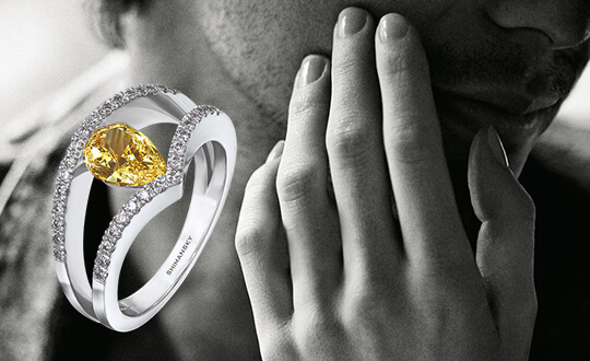 Shimansky Fancy Yellow Diamond Ring