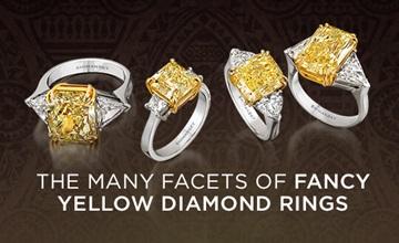 Shimansky Fancy Yellow Diamond Rings