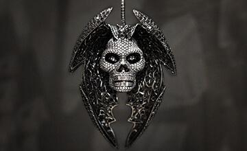 Shimansky Skull Diamond Pendant
