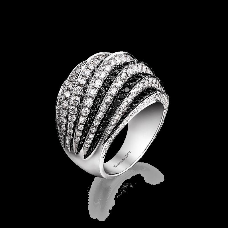 Black Diamond Pave Ring | Shimansky