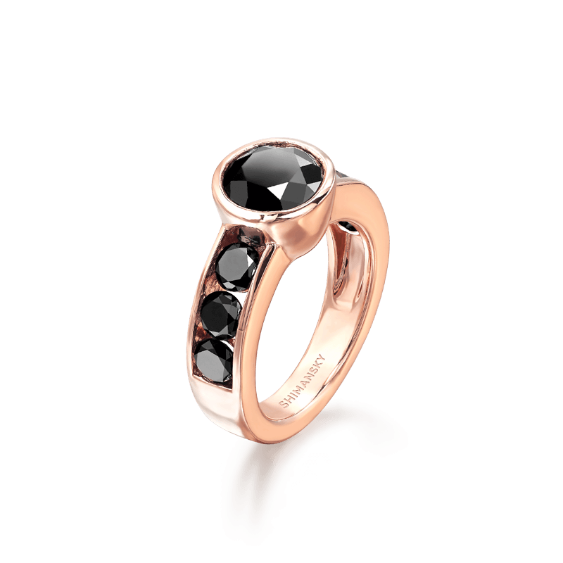 Black Diamond Ring Rose Gold | Shimansky