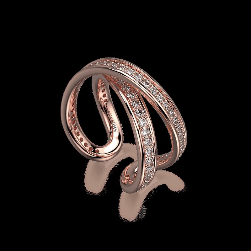 Infinity Classic Pave Ring 18K Rose Gold   Shimansky