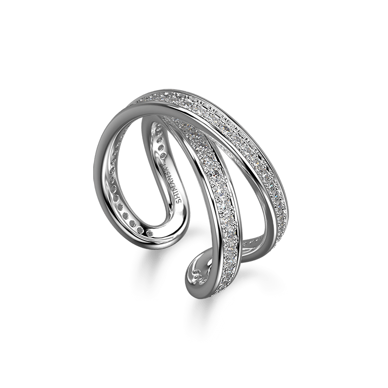 Infinity Classic Pave Ring 18K White Gold | Shimansky