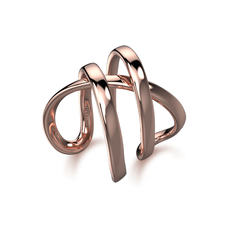 Infinity Double Ring 18K Rose Gold | Shimansky