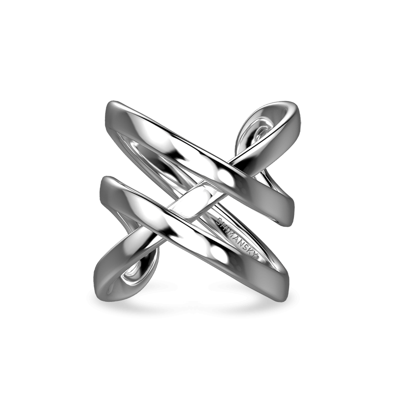Infinity Double Ring 18K White Gold | Shimansky