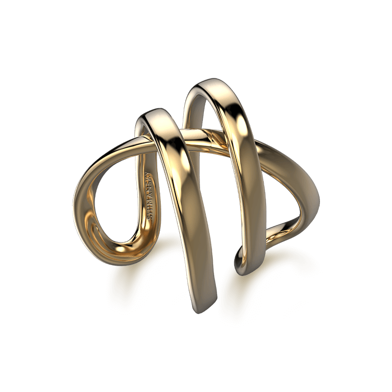 Infinity Double Ring 18K Yellow Gold | Shimansky