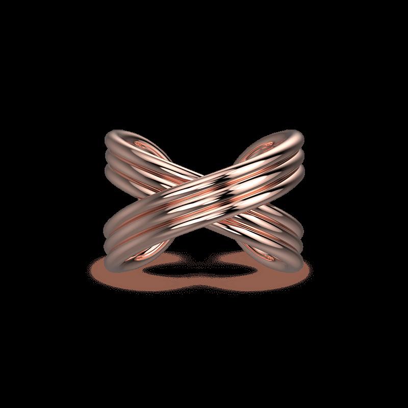 Infinity Fluet Ring 18K Rose Gold | Shimansky