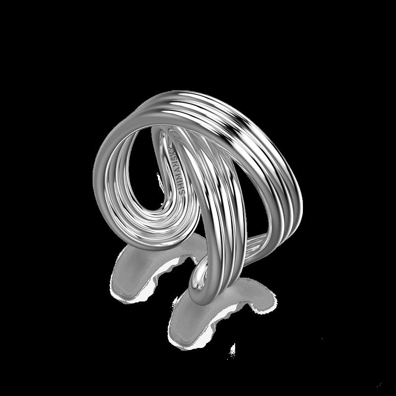 Infinity Fluet Ring 18K White Gold | Shimansky