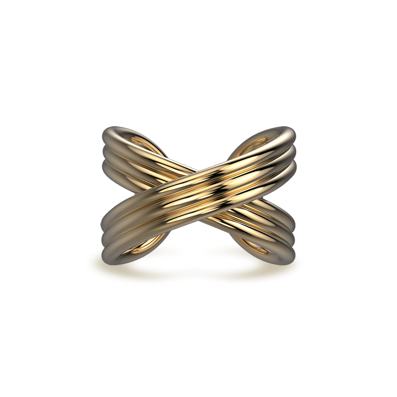 Infinity Fluet Ring 18K Yellow Gold | Shimansky