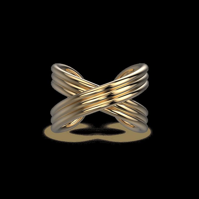 Infinity Fluet Ring 18K Yellow Gold | Shimansky