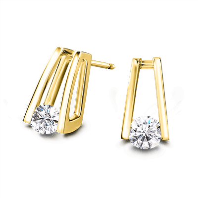 Millennium Diamond Earrings 18K Yellow Gold | Shimansky
