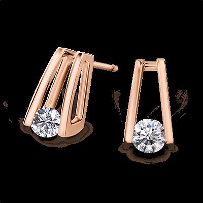 Diamond Millennium Earrings Rose Gold | Shimansky