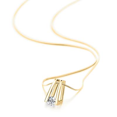 Millennium Diamond Pendant 18K Yellow Gold   Shimansky