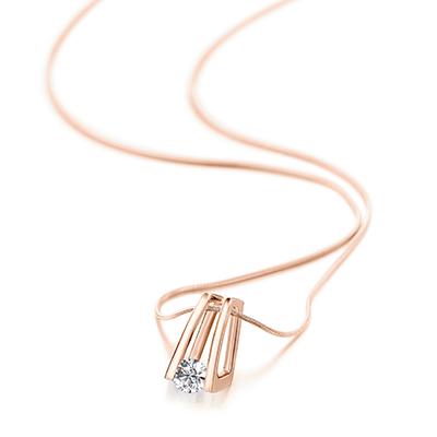 Millennium Diamond Pendant 18K Rose Gold | Shimansky