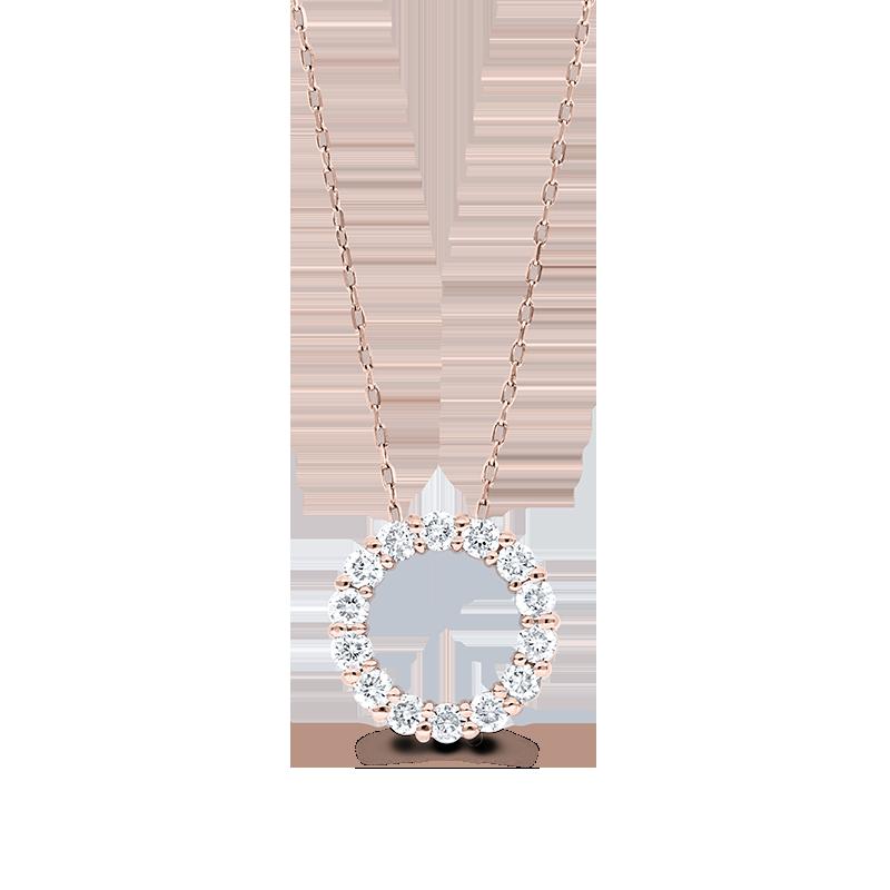 Rose Gold Diamond Circle Pendant